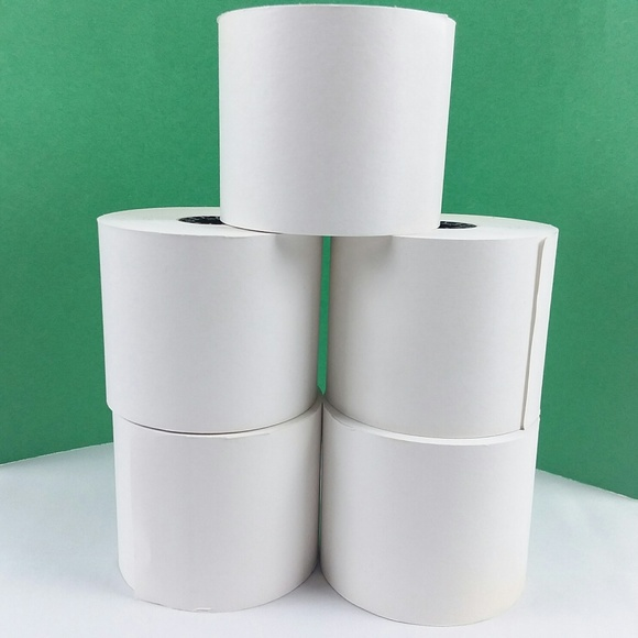 Premier Other - Bundle of 5 White PAPER ROLLS For Adding Machines